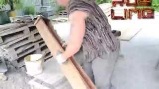 Как сделать много бетонных столбов одной формой