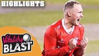 Lancashire v Yorkshire | Lightning Strike to Win Roses Thriller! | Vitality Blast 2020 - Highlights