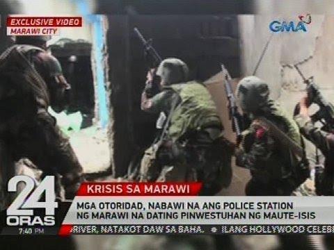 Mga otoridad, nabawi na ang police station ng Marawi na dating pinwestuhan ng Maute-ISIS