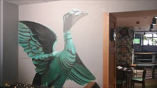 Liver Bird Mural at Harrison's Bar Liverpool