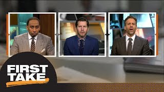 Will Cain debates Stephen A. and Max: Should Warriors trade for Anthony Davis? | First Take | ESPN