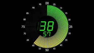 100 Seconds Countdown (LED Circle Clock Version , Remix BBC Countdown , 50FPS)