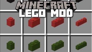 Minecraft LEGO MOD / BUILD ENDLESS ITEMS AND BUILDINGS OUT OF LEGO!! Minecraft
