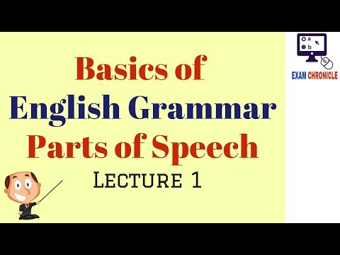 Basics of English Grammar (Lecture I)