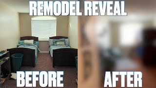BOYS BEDROOM COMPLETE MAKEOVER REVEAL | BEFORE AND AFTER THEMED BEDROOM REMODEL