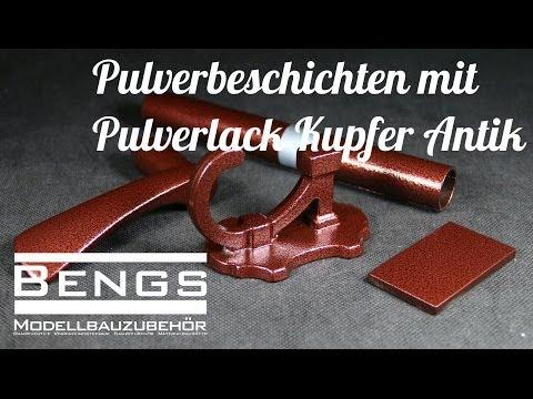 Pulverbeschichtung Kupfer Antik Pulverlack mit der EasyCoat Pulverpistole