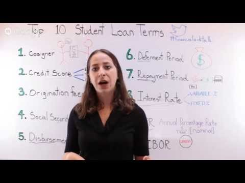 Student Loan Terms Explained