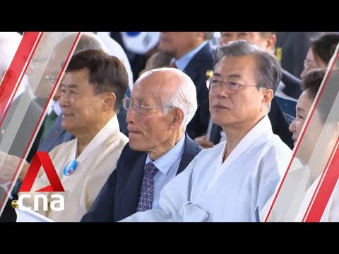 South Korean President Moon Jae-in strikes conciliatory tone towards Japan