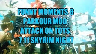 Garry's Mod Funny Moments #8 Parkour Mod, Sniper Duel 3.0, Attack On Toy's, 711's Skyrim Night