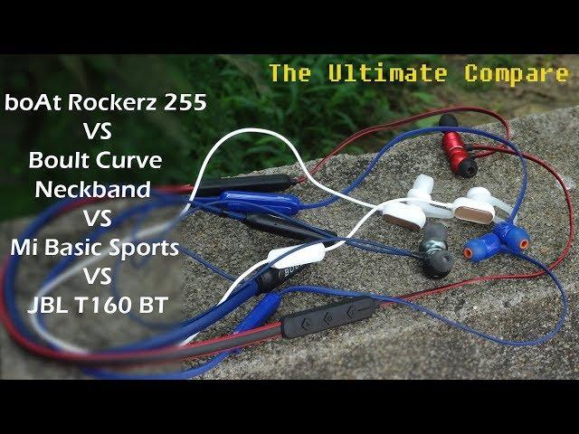 Boult Curve VS boAt Rockerz 255F VS Mi Sports Basic VS JBL T160 BT | Full Comparison