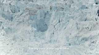O maior rompimento de iceberg já filmado