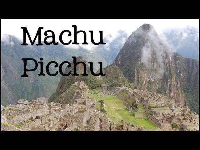 英語のmachu picchuのビデオ発音