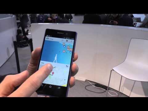 Blick auf das Sony Live Log: Fitness-Armband und Android-App