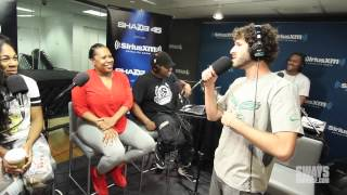 """Lil Dicky Performs """"Lemme Freak"""" In Heather B And Tracy G Lap Live In Studio For Concert Series"""