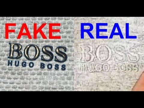 Real vs Fake Hugo Boss T shirt. How to spot fake Boss tees.