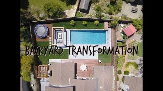 Backyard Transformation & Pool Construction Timelapse