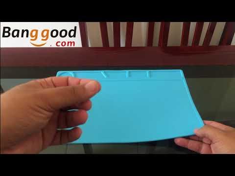Review... O melhor Isolamento Térmico para proteger sua mesa do soldador: DANIU 34x23 cm