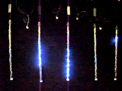 FESTISNOW - Tube FestiSnow LED effet comète 58cm-LED blanc-câble noir-230V