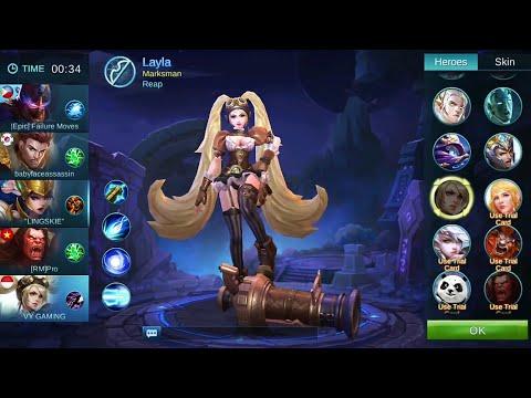 Mobile legend Layla mvp 53X legendary