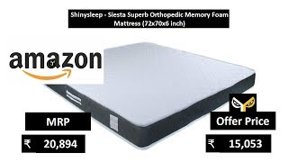 Shinysleep - Siesta Superb Orthopedic Memory Foam Mattress