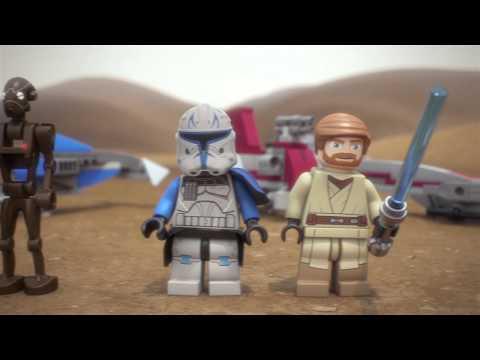 Vidéo LEGO Star Wars 75012 : BARC Speeder avec Sidecar