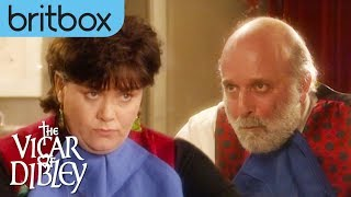 David & Geraldine's Intense Brussel Sprout Competition | The Vicar of Dibley