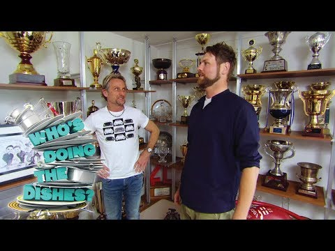 Carl Fogarty Shows Off His Many Trophies - Who's Doing the Dishes?