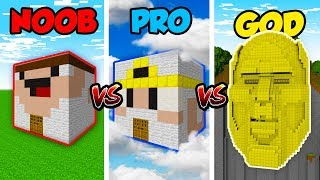 Minecraft NOOB vs. PRO vs. GOD: GOD HOUSE in Minecraft! (Animation)