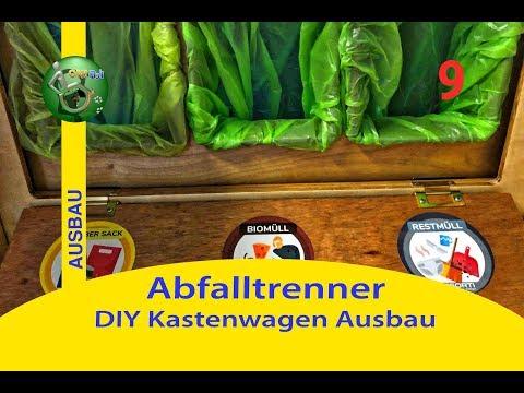 Abfalltrenner + Bodenschränkchen ⎮ #9 DIY Kastenwagen Camper Ausbau
