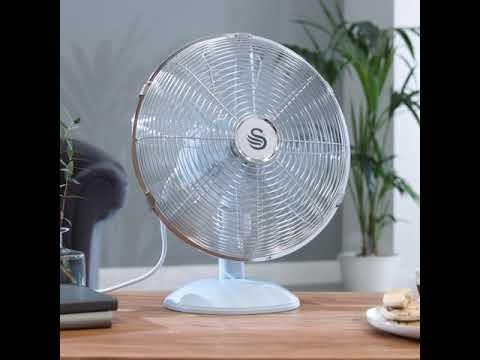 Swan Retro 12 Inch Desk Fan – Cinemagraph