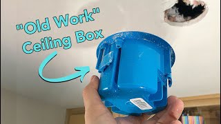 How to Install an Electrical Ceiling Box for a Light Fixture