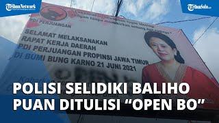 Aksi Vandalisme, Baliho Puan Maharani Dicoreti