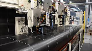 Cutting technical textiles lengthwise