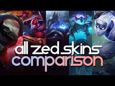 All Zed Skins Comparison
