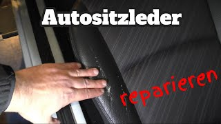 Autositzleder reparieren