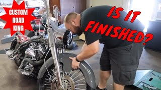 "Custom Road King 23"" Wheel Bagger Rebuild Part 4 ll Budget Rebuilds"