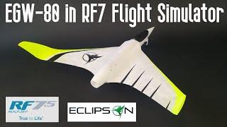 3D printed RC fast FPV model EGW in Real Flight 7.5 Rc Flight simulator