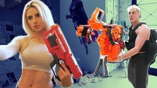 GIANT NERF GUN WAR (BOYS VS. GIRLS)
