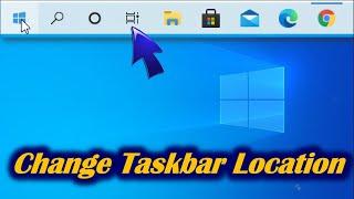 How to Move Taskbar in Windows 10