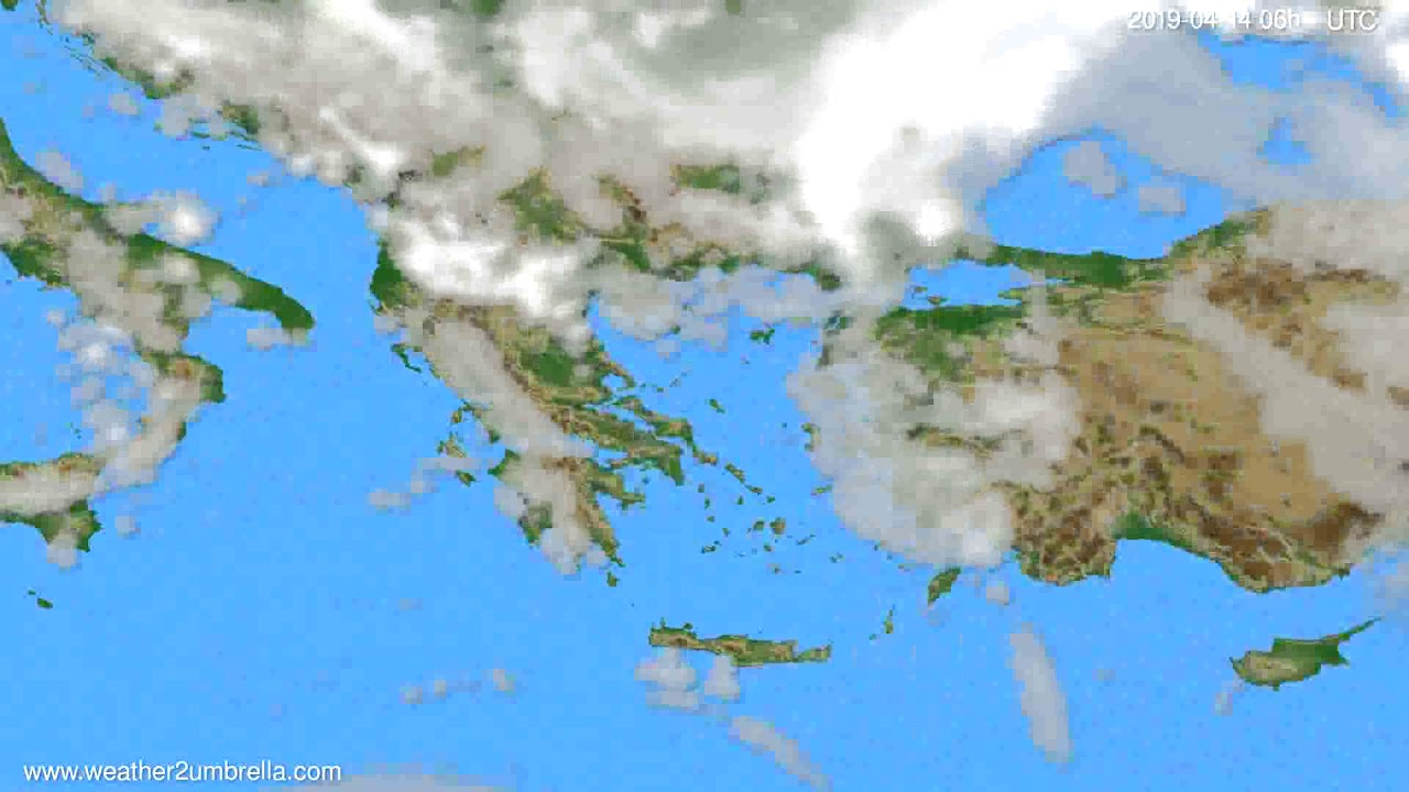 Cloud forecast Greece // modelrun: 00h UTC 2019-04-12