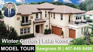 Winter Garden Luxury Home Tour | Sawgrass III Model | Orlando Home Finders
