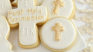 How To Decorate 1st Holy Communion Cookies
