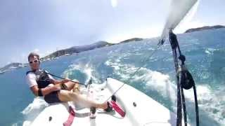 preview picture of video 'Dinghy planing at Caribbean ~15kt wind'