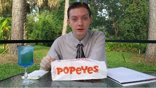 Popeyes Cheddar Biscuit Butterfly Shrimp - Food Review