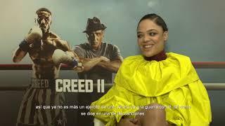 Michael B. Jordan y Florian Munteanu   Entrevistas al cast de Creed 2