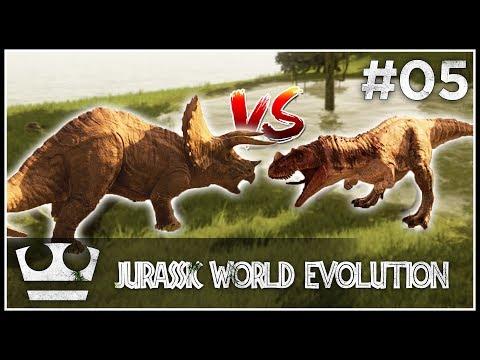 Epický souboj dinosaurů! JURASSIC WORLD EVOLUTION #05 [ 4K ]