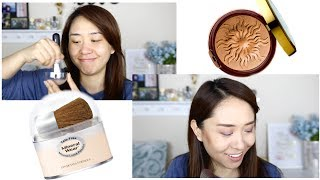 PHYSICIANS FORMULA | Loose Powder Foundation + Bronze Booster | Test | Drugstore makeup series