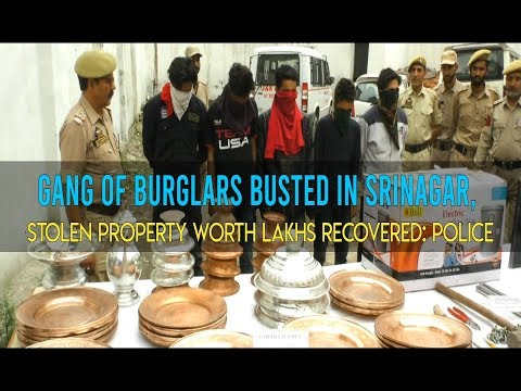 Gang of burglars busted in Srinagar, stolen property worth lakhs recovered: Police