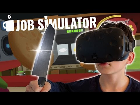 KOTSEN IN DE KEUKEN !! | Job Simulator VR Gourmet Chef (HTC Vive)