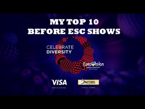MY TOP 10 ESC 2017 !!!